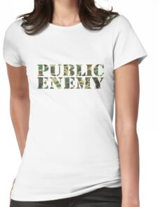 P.E. camouflage Womens Fitted T-Shirt