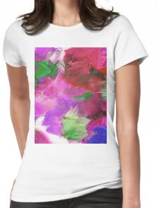 Rhodadendron Mash Womens Fitted T-Shirt