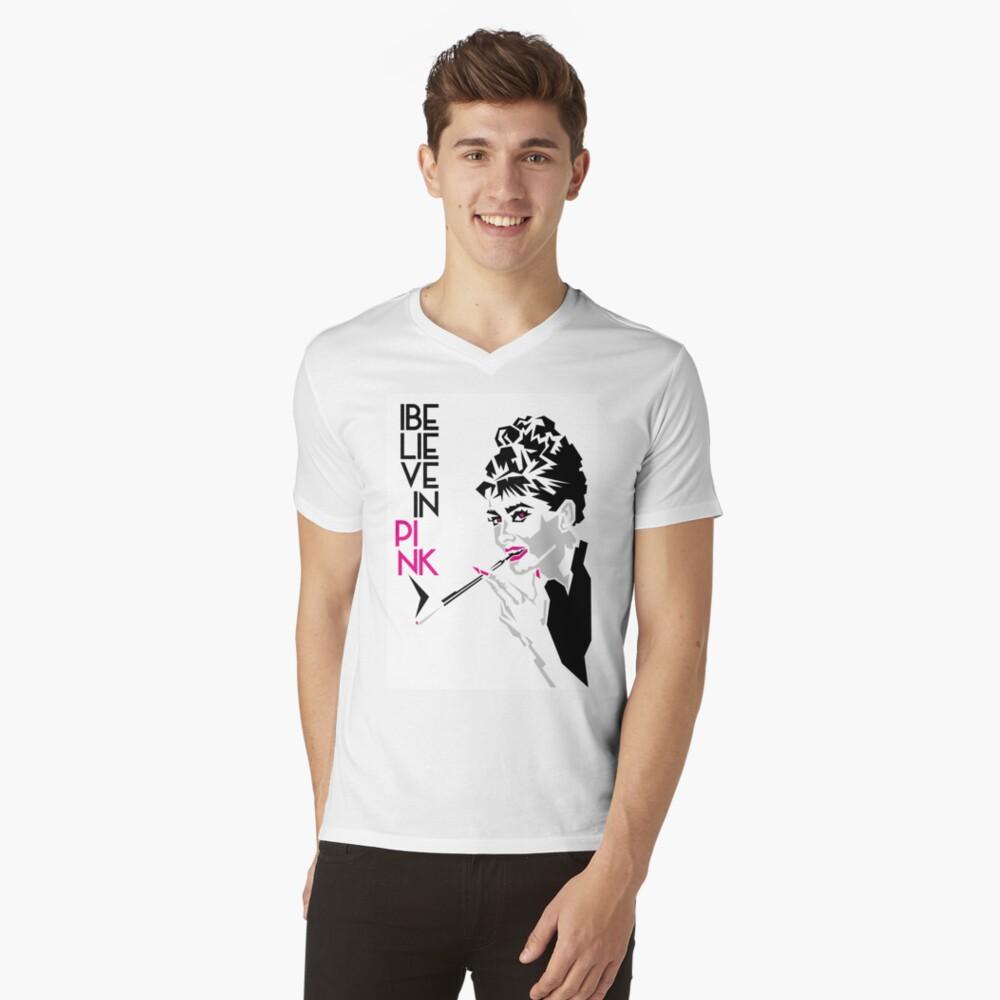 Audrey T-Shirt mit V-Ausschnitt