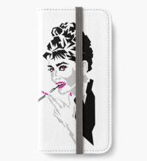 Audrey iPhone Flip-Case/Hülle/Skin