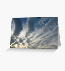 stripy sky Greeting Card