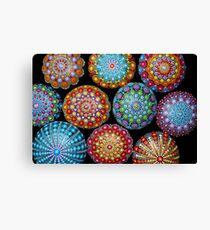 Mandala Painted stones  Canvas Print