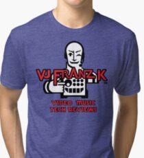 VJ FRANZ K Character Logotype Tri-blend T-Shirt
