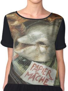 PHOTOGRAPHY #mask #dolphin Chiffon Top