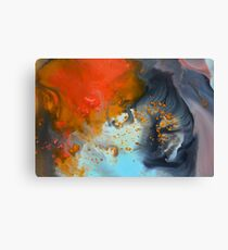 Red blue abstract print  Canvas Print