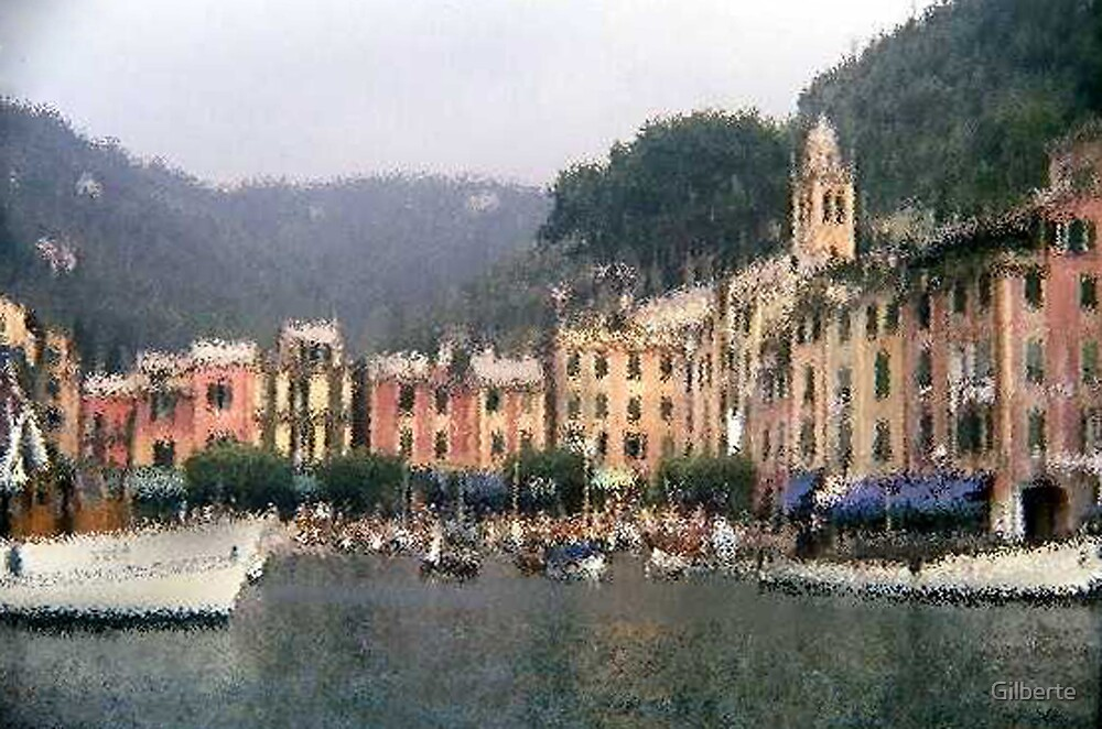 Portofino - impressionism by Gilberte