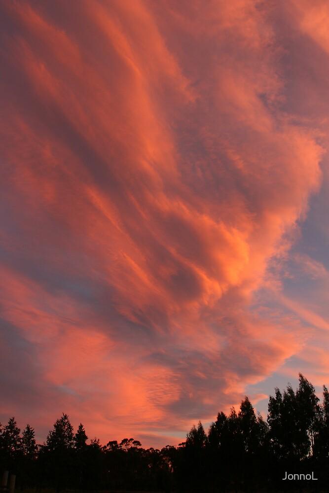 Sunset on Clouds by JonnoL
