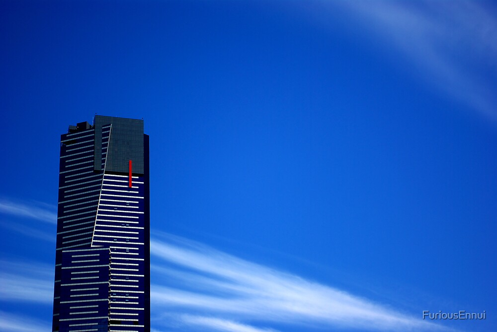Red stripe building by FuriousEnnui