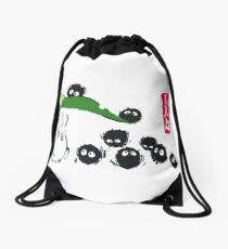 Sootballs in Forest Drawstring Bag
