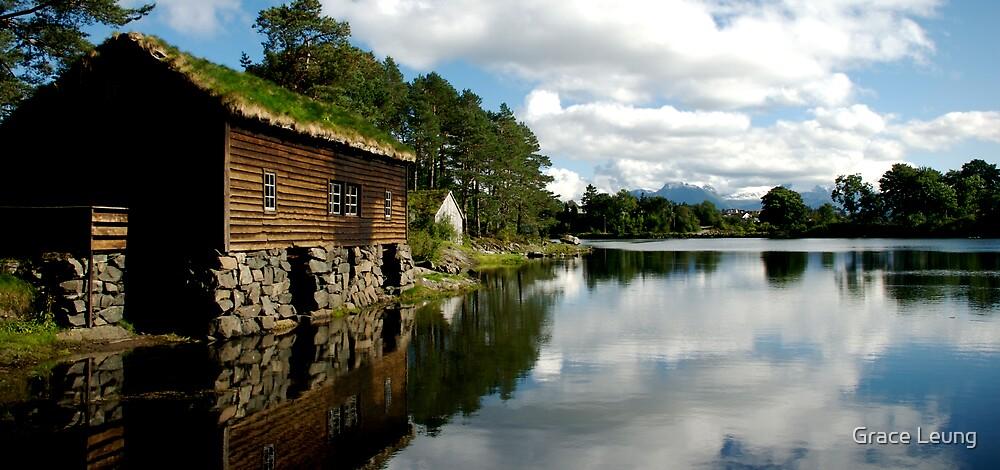 Norwegian Hut Panorama  by Grace Leung