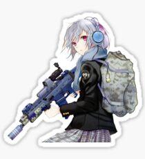 Unisex - Anime Mädchen mit Gewehr Sticker