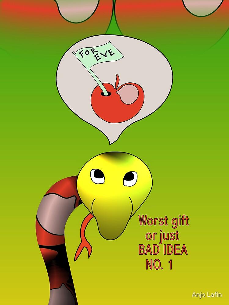 Snake has a bad idea. by Anjo Lafin