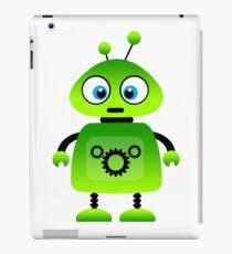 green robot machine work iPad Case/Skin