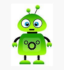 green robot machine work Photographic Print