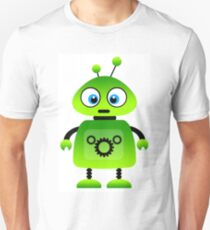green robot machine work Unisex T-Shirt