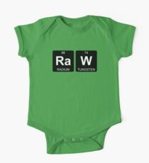 Ra W - Raw - Periodic Table - Chemistry - Chest One Piece - Short Sleeve