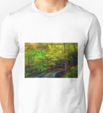 Train Tracks into the Woods Slim Fit T-Shirt