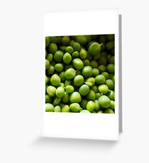 Peas - Fresh From The Pod Greeting Card