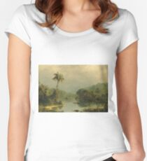 Frederic Edwin Church - Tropical Landscape Women's Fitted Scoop T-Shirt