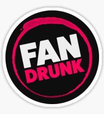 Fan Drunk Podcast Logo Sticker