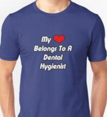 My Heart Belongs To A Dental Hygienist Unisex T-Shirt