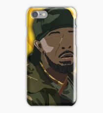 Omar l The Wire (Digital Fabric Collage) iPhone Case/Skin