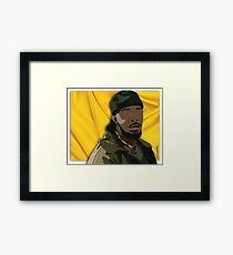 Omar l The Wire (Digital Fabric Collage) Framed Print