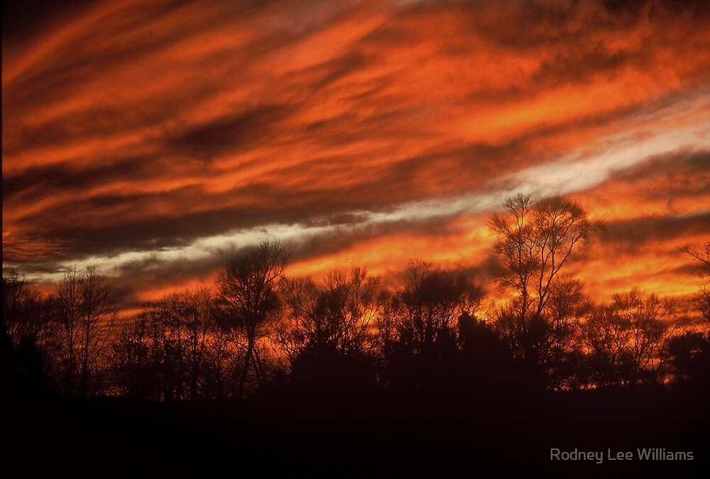 Fiery Sky by Rodney Lee Williams