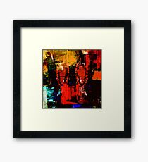Digital Tribal Oil Painting  Framed Print