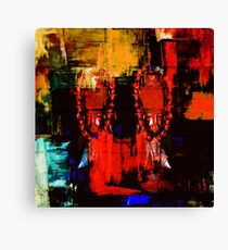 Digital Tribal Oil Painting  Canvas Print