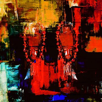 Digital Tribal Oil Painting  by LouisaCatharine