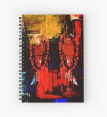 Digital Tribal Oil Painting  Spiral Notebook