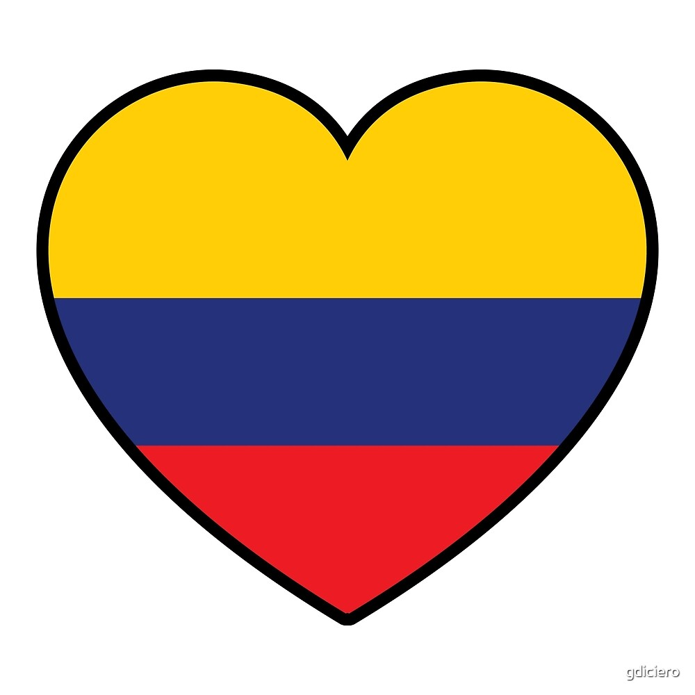 Colombia Heart Shaped Flag\