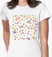 Joyeux Pâquetchwork Womens Fitted T-Shirt