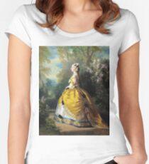 Franz Xaver Winterhalter - The Empress Eugenie (Eugenie De Montijo) Women's Fitted Scoop T-Shirt