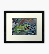 Timid Tiger Framed Print