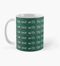 I Am One With The Force And The Force Is With Me - Chalk Board Mug