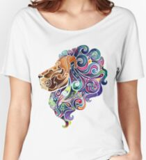 Amazing colorful lion Women's Relaxed Fit T-Shirt