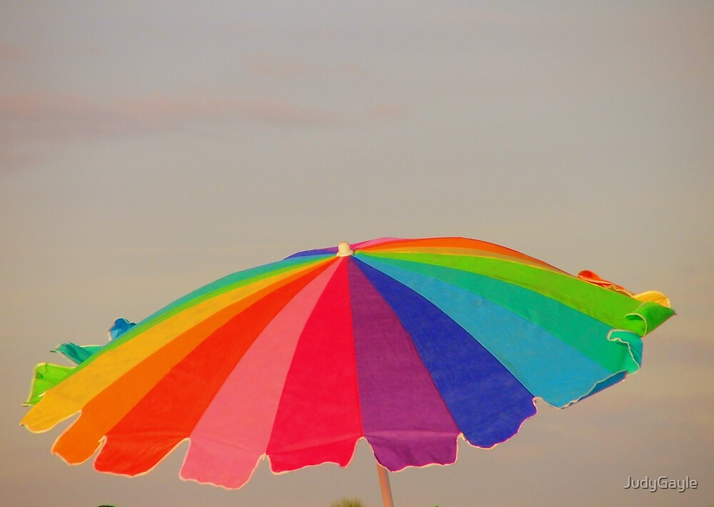 Umbrella on the Beach by Judy Gayle Waller