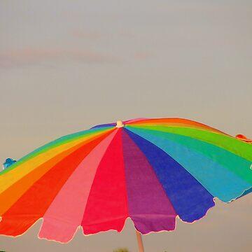 Umbrella on the Beach by JudyGayle