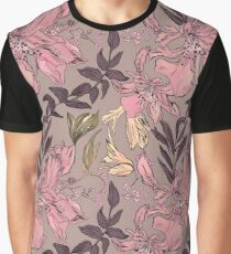Dreamy Japanese motif with pink flowers on a homogeneous. Graphic T-Shirt