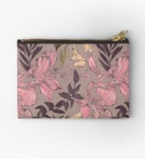 Dreamy Japanese motif with pink flowers on a homogeneous. Studio Pouch