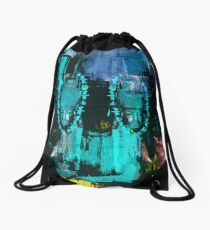 Digital African Tribal Jewelry Art Drawstring Bag