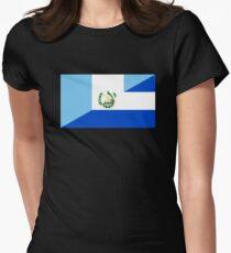 guatemala el salvador flag Women's Fitted T-Shirt