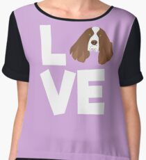 I love my Springer Spaniel Shirt Chiffon Top