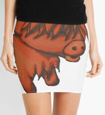 Cartoon Highland cow Mini Skirt