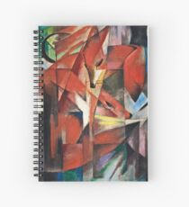 Franz Marc - The Foxes (1913) Spiral Notebook