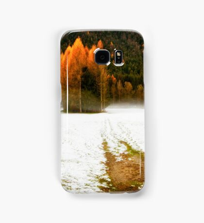 Group of pine trees in the mist Samsung Galaxy Case/Skin