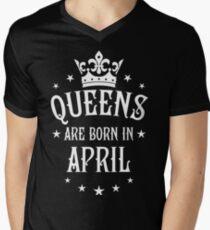Queens are born in April Happy Birthday Queen T-Shirt