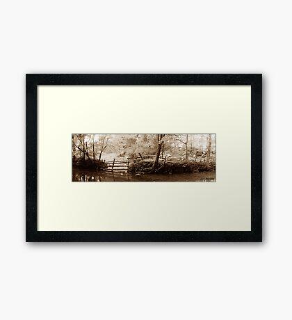 Town Creek Framed Print